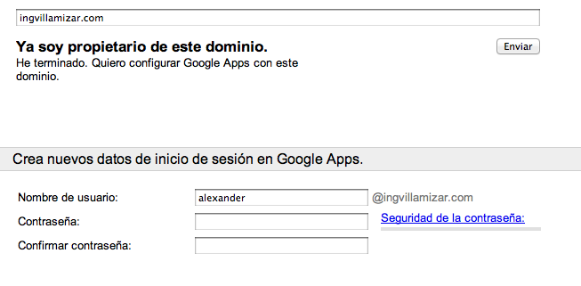Setup Google Apps